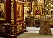 Dmitrov Ryssland - mars 10 2018 inre Borisoglebsky mankloster Royaltyfri Fotografi
