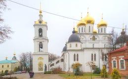 Dmitrov Sity  2005个下午区克里姆林宫红色夏天 假定的大教堂 免版税库存照片