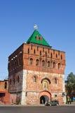 Dmitrovskaya tower of Nizhny Novgorod kremlin Stock Image