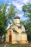 The chapel of Dmitry Donskoy outside the Eastern wall of the Andronikov monastery. Moscow. Royalty Free Stock Image