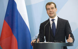 Dmitry Medvedev Royalty Free Stock Photo