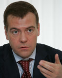 Dmitry Medvedev Stockfotos