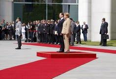 Dmitry Medvedev (Dmitri Medwedew), Chancellor Angela Merkel. JUNE 5, 2008 - BERLIN: Russian president Dmitry Medvedev (Dmitri Medwedew), Chancellor Angela Merkel Stock Image