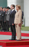 Dmitry Medvedev (Dmitri Medwedew), Chancellor Angela Merkel. JUNE 5, 2008 - BERLIN: Russian president Dmitry Medvedev (Dmitri Medwedew), Chancellor Angela Merkel Royalty Free Stock Photo