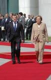 Dmitry Medvedev (Dmitri Medwedew), Chancellor Angela Merkel. JUNE 5, 2008 - BERLIN: Russian president Dmitry Medvedev (Dmitri Medwedew), Chancellor Angela Merkel Royalty Free Stock Photos
