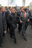Dmitry Medvedev and Oleg Sienko Stock Images