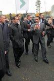 Dmitry Medvedev and Oleg Sienko Royalty Free Stock Image