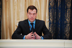 Dmitry Medvedev. Prime minister of Russia, third president of Russia Dmitry Anatolyevich Medvedev Stock Photo
