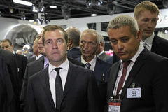 Dmitry Medvedev and Vladislav Masalov Royalty Free Stock Photo