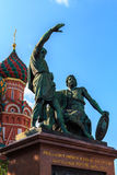Dmitry Pozharsky and Kuzma Minin monument on 15 July 2015 in Moscow, Russia Royalty Free Stock Image
