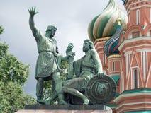 Dmitry Pozharsky and Kuzma Minin monument .Moscow Stock Photography