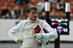 Dmitry Rigin during International fencing tournament St. Petersburg Foil 2015 Stock Images