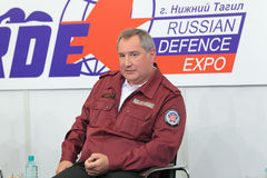 Dmitry Rogozin. NIZHNY TAGIL, RUSSIA- AUG 24: Dmitry Rogozin is Ambassador Extraordinary and Plenipotentiary of Russia, vice-premier of Russian Government at Royalty Free Stock Images