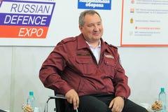 Dmitry Rogozin. NIZHNY TAGIL, RUSSIA- AUG 24: Dmitry Rogozin is Ambassador Extraordinary and Plenipotentiary of Russia, vice-premier of Russian Government at Royalty Free Stock Photo