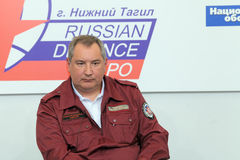 Dmitry Rogozin. NIZHNY TAGIL, RUSSIA- AUG 24: Dmitry Rogozin is Ambassador Extraordinary and Plenipotentiary of Russia, vice-premier of Russian Government at Stock Photography