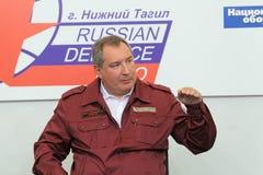 Dmitry Rogozin. NIZHNY TAGIL, RUSSIA- AUG 24: Dmitry Rogozin is Ambassador Extraordinary and Plenipotentiary of Russia, vice-premier of Russian Government at Royalty Free Stock Photography