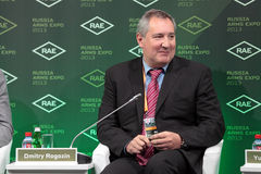 Dmitry Rogozin. NIZHNY TAGIL, RUSSIA - SEP 25: Dmitry Rogozin - Deputy Prime Minister of Russia at the exhibition RUSSIA ARMS EXPO (RAE-2013) on September, 25 Stock Images