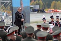 Dmitry Rogozin. NIZHNY TAGIL, RUSSIA - SEP 25: Dmitry Rogozin - Deputy Prime Minister of Russia at the opening ceremony of the exhibition RUSSIA ARMS EXPO (RAE Stock Photos