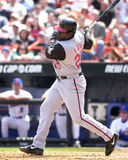 Dmitry Young, Cincinnati Reds. Cincinnati Reds 1B Dmitri Young #25. Image taken from color slide Royalty Free Stock Photos