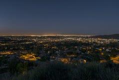 Dämmerung Glendales Kalifornien Lizenzfreies Stockbild