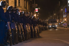 Démonstrations politiques en Hongrie 2006 Image stock