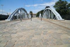 Dmowski-Brücke, WrocÅ-'Aw, unteres Schlesien, europäische Hauptstadt von Europa Stockfotografie