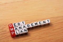 DMP debt management plan Stock Image