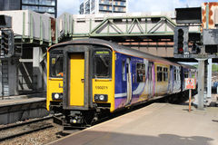Dmu train arriving at Manchester Victoria Royalty Free Stock Photography
