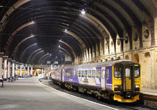 Dmu train to Harrogate waits in York station Royalty Free Stock Photography