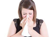 Dmuchający twój nos zbyt ciężkiego Zdjęcie Stock