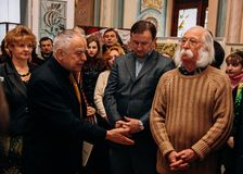 Dmytro Pavlychko, Mykhailo Ratushny e Ivan Marchuk Fotos de Stock Royalty Free