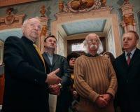 Dmytro Pavlychko, Mykhailo Ratushny y Ivan Marchuk Fotos de archivo libres de regalías