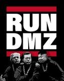 DMZ, COREA, el 27 de abril de 2018 - ejemplo para las negociaciones de cumbre de la paz de la península de Corea stock de ilustración