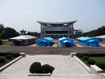 DMZ dal DPRK Immagine Stock