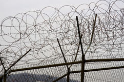 DMZ fences Stock Image