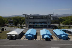 DMZ (Panmunjom) House of Freedom as seen from DPRK Royalty Free Stock Photo