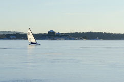 DN iceboat in Stockholm archipelago Royalty Free Stock Images