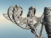 DNA łańcuch model 3 d royalty ilustracja
