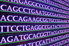 DNA ακολουθίας στοκ φωτογραφία