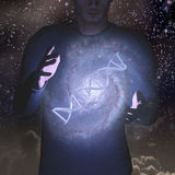 DNA και αστέρια Στοκ Εικόνες