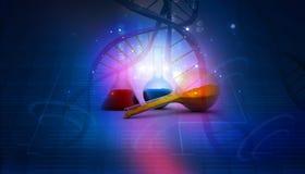 DNA και εργαστήριο Στοκ Εικόνες