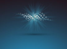 DNA και ιατρικό και υπόβαθρο τεχνολογίας φουτουριστικό μόριο απεικόνιση αποθεμάτων