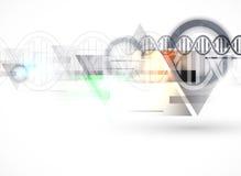 DNA και ιατρικό και υπόβαθρο τεχνολογίας φουτουριστικό μόριο s απεικόνιση αποθεμάτων
