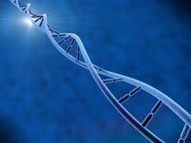 DNA με το μπλε backgroung Στοκ φωτογραφίες με δικαίωμα ελεύθερης χρήσης