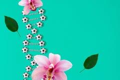 DNA ποδοσφαίρου στο μπλε υπόβαθρο απεικόνιση αποθεμάτων