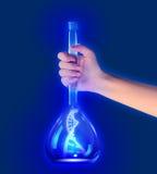 DNA στο σωλήνα δοκιμής Στοκ Εικόνα