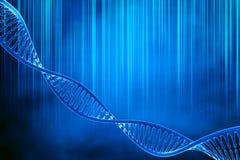 DNA στο όμορφο υπόβαθρο Στοκ φωτογραφία με δικαίωμα ελεύθερης χρήσης