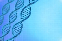 DNA στο όμορφο υπόβαθρο Στοκ εικόνες με δικαίωμα ελεύθερης χρήσης