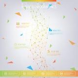 DNA σύγχρονου σχεδίου στο γκρίζο υπόβαθρο, έννοια ελεύθερη απεικόνιση δικαιώματος
