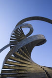 DNA. Metal sculpture of DNA strands royalty free stock photo